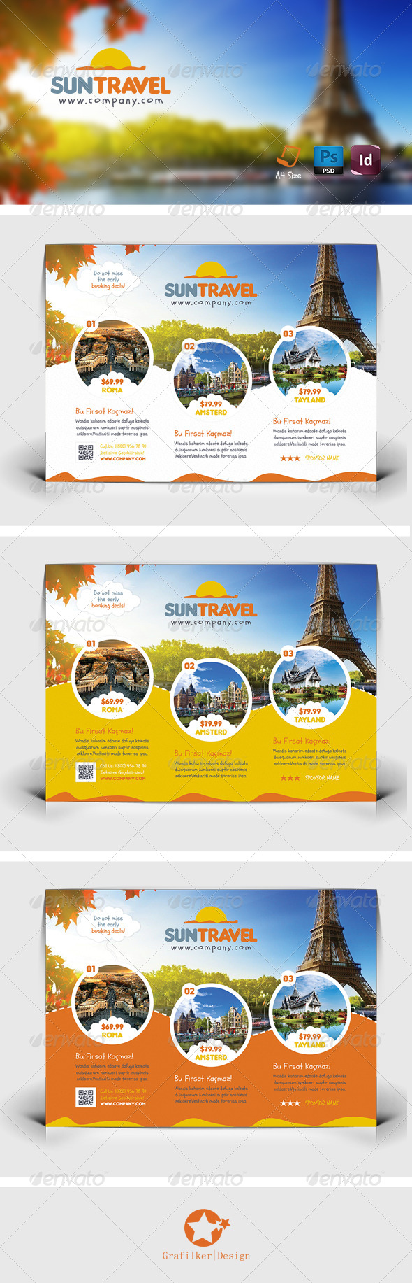 GraphicRiver Travel Tour Flyer Templates 7577336