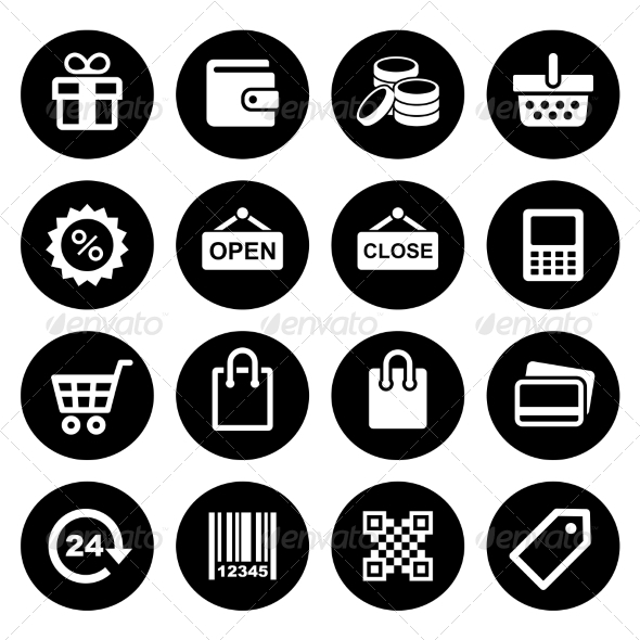 GraphicRiver Shopping Icons set 7577501