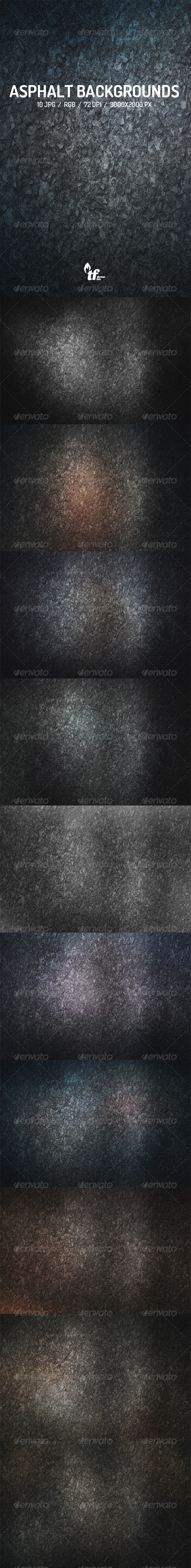 GraphicRiver Asphalt Backgrounds 7577990