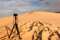 Camera on a tripod at sand dunes - PhotoDune Item for Sale