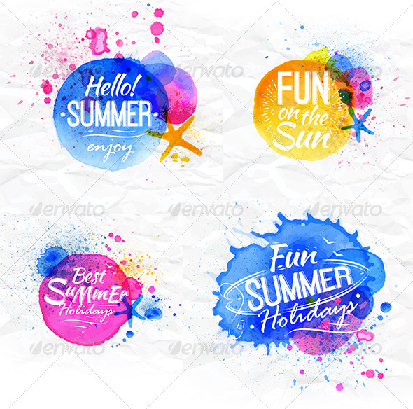 GraphicRiver Watercolor Symbols 7580392