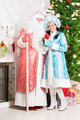 Snow maiden and santa claus - PhotoDune Item for Sale