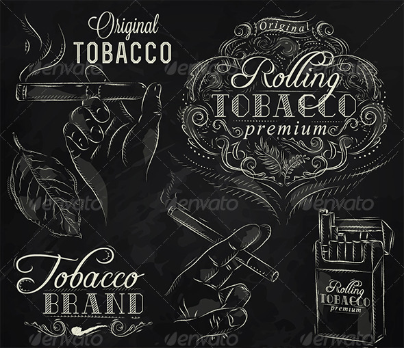 GraphicRiver Collection on Tobacco and Smoking 7580852