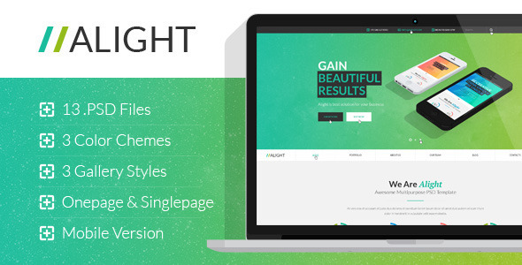 ThemeForest Alight Multipurpose PSD Template 7513279