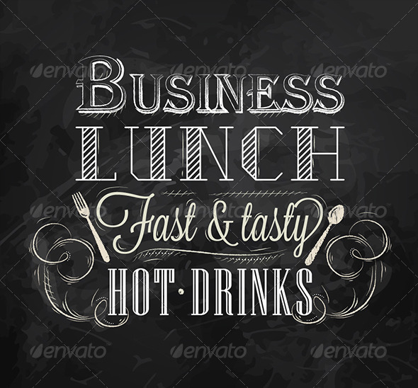 GraphicRiver Business Lunch Chalk Board 7581190