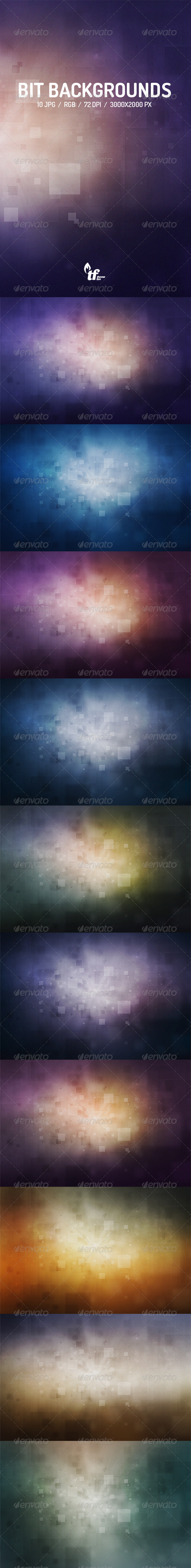 GraphicRiver Bit Backgrounds 7582475