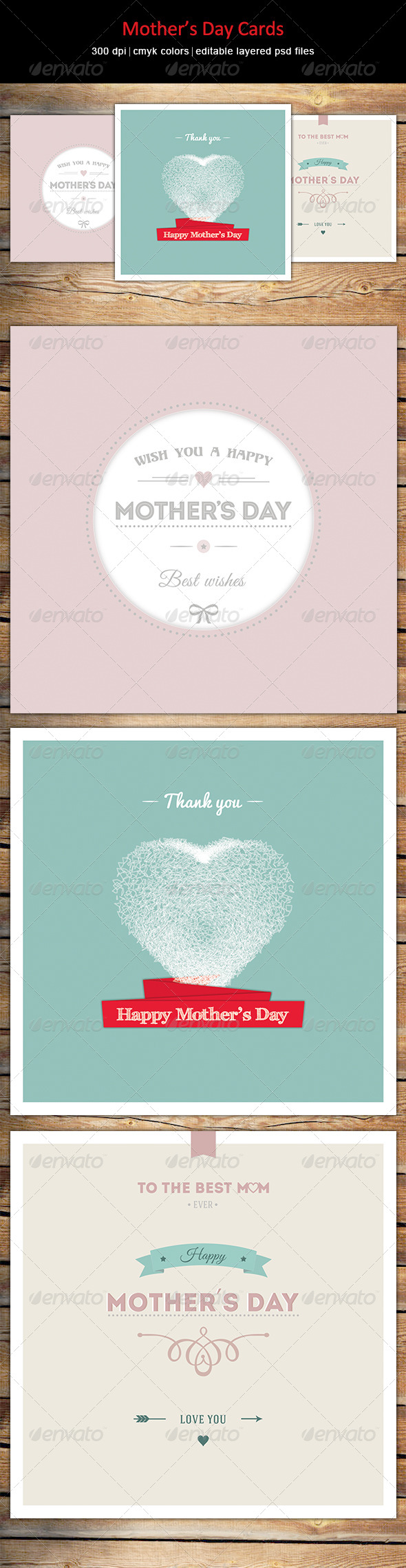GraphicRiver Mother's Day Cards 7582676