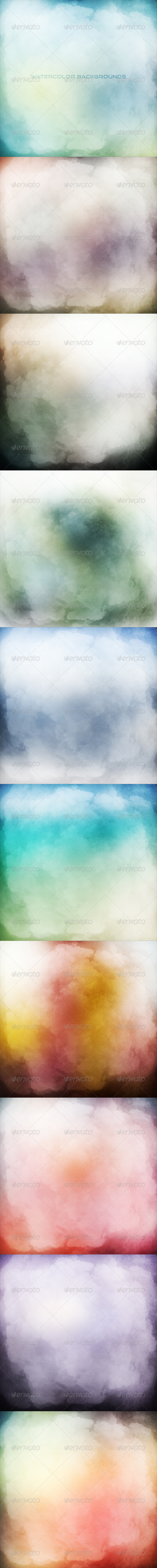 GraphicRiver Watercolor Backgrounds 7582747