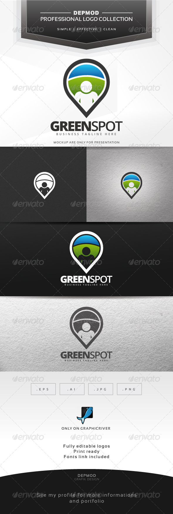GraphicRiver Green Spot Logo 7584236
