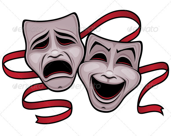 GraphicRiver Comedy and Tragedy Theater Masks 778346