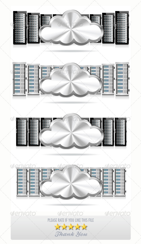 GraphicRiver Servers with Cloud Computing 7584298