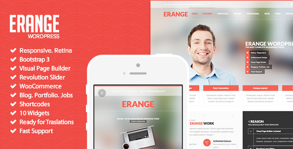 ThemeForest Erange Responsive Multipurpose WordPres Theme 7584946