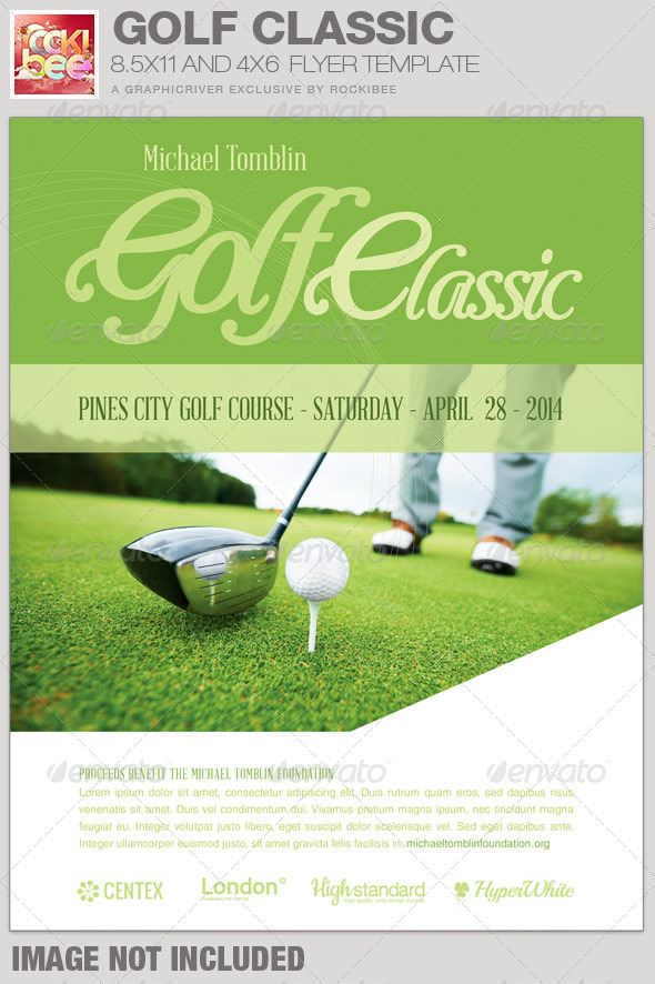 GraphicRiver Golf Classic Event Flyer Template 7584994