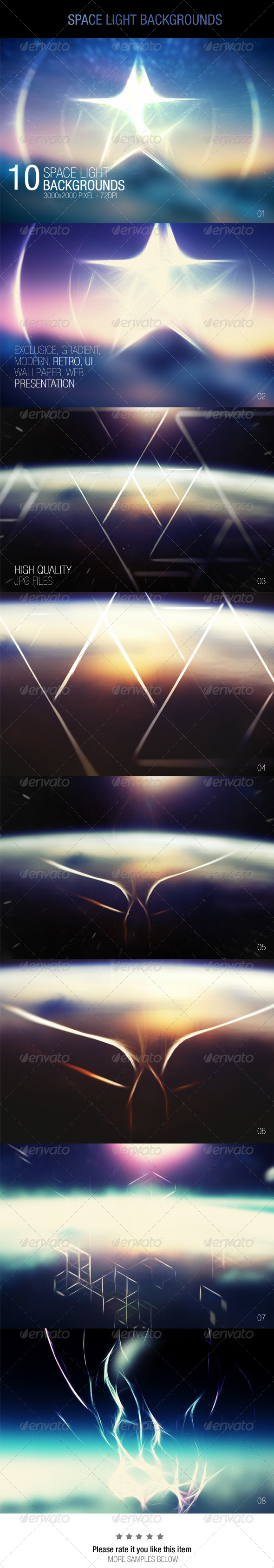 GraphicRiver Space Light Backgrounds 7585018