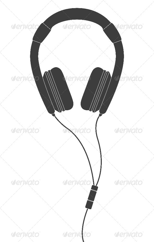 GraphicRiver Black Headphones 7554817