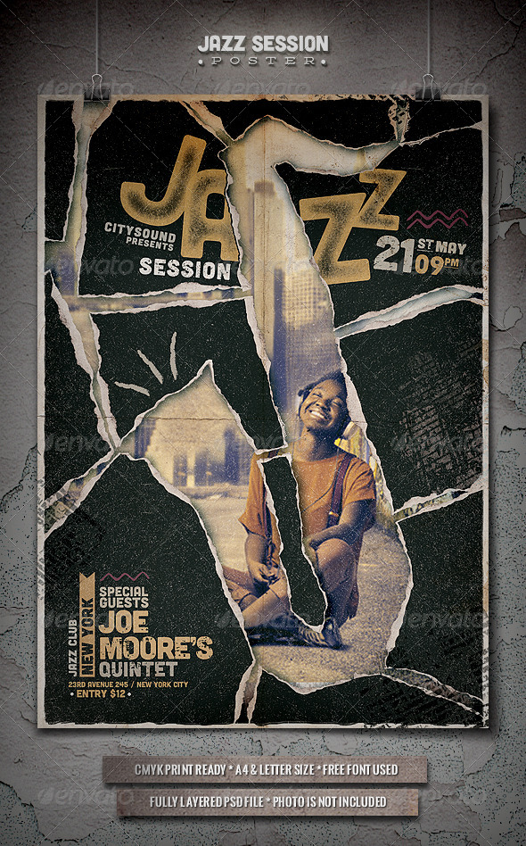GraphicRiver Jazz Flyer Poster 5 7585096