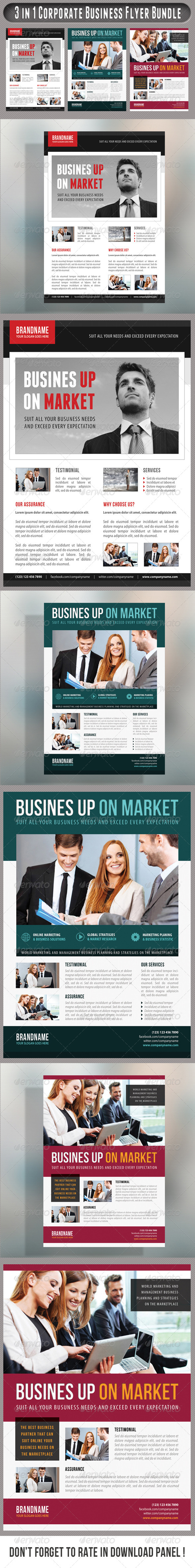 GraphicRiver 3 in 1 Corporate Flyers Bundle 17 7585143