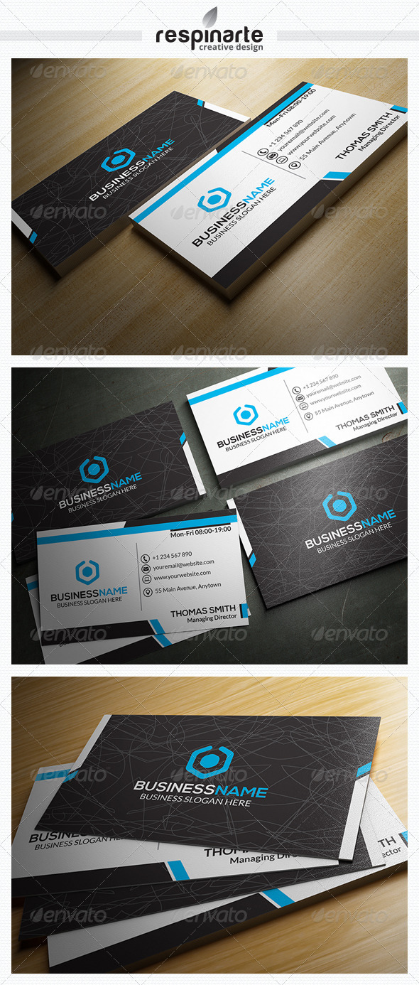 GraphicRiver Corporate Business Card RA12 7586559