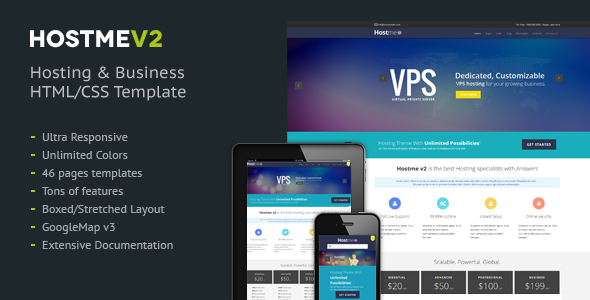 ThemeForest Hostmev2 Responsive HTML5 Template 7586979