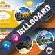 Travel Tours Billboard Templates - GraphicRiver Item for Sale