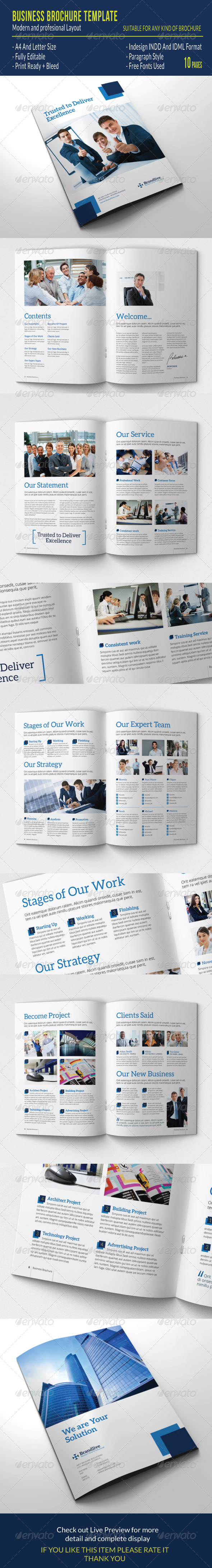 GraphicRiver Business Brochure Template 7587116