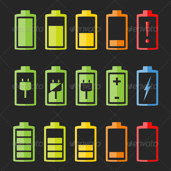 GraphicRiver Battery Icons 7587830