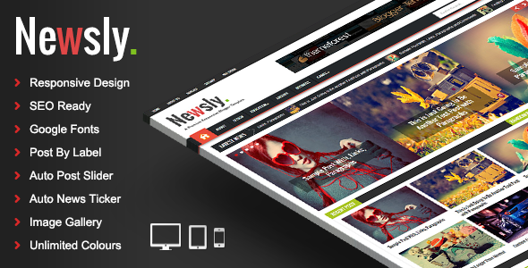 ThemeForest Newsly Responsive Multipurpose Blogger Template 7516984