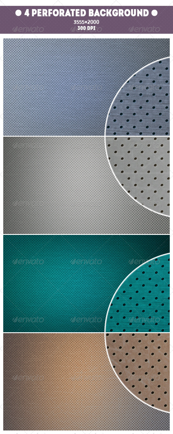 GraphicRiver 4 Perforated Background 7588572