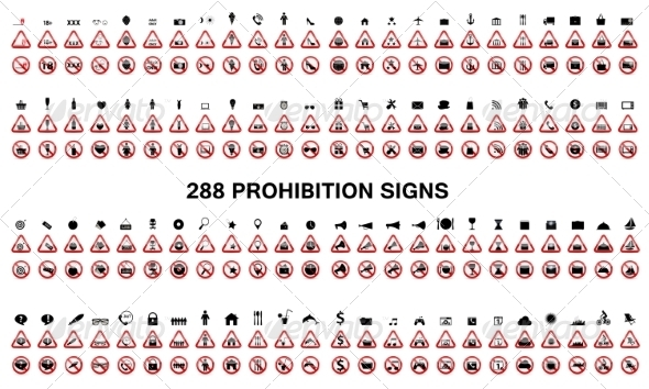 GraphicRiver Set of Prohibition Signs 7588953