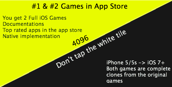 CodeCanyon 4096 & Don t Tap The White Tile iOS Games 7589947