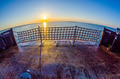 riding on a ferry boat at sunset - PhotoDune Item for Sale