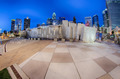 charlotte skyline at romare bearden park and bbt knights baseball stadium - PhotoDune Item for Sale