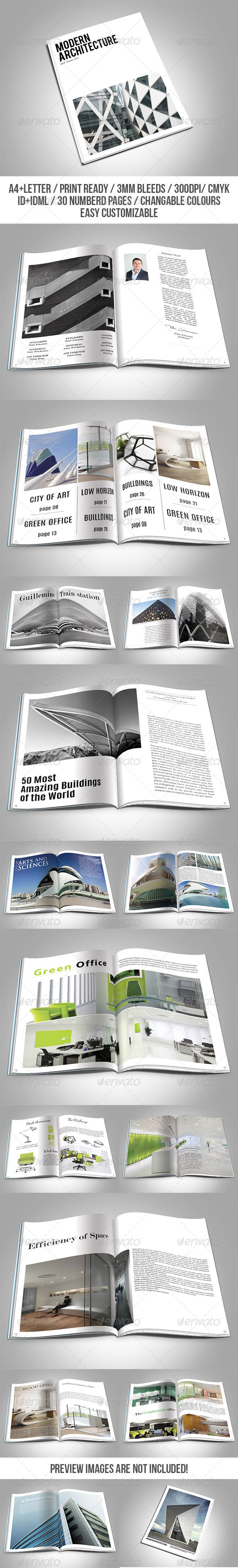 GraphicRiver Modern Architecture Magazine Template 7591348