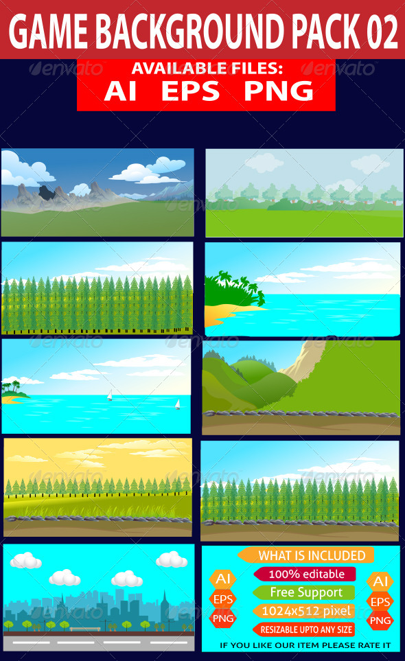 GraphicRiver Game Background Pack 02 7591469