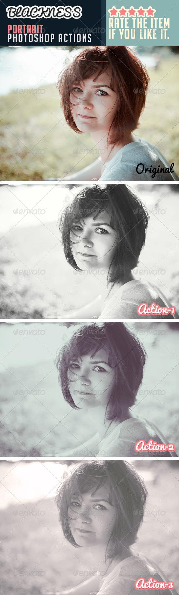 GraphicRiver Blackness Portrait Photoshop Actions 7591783