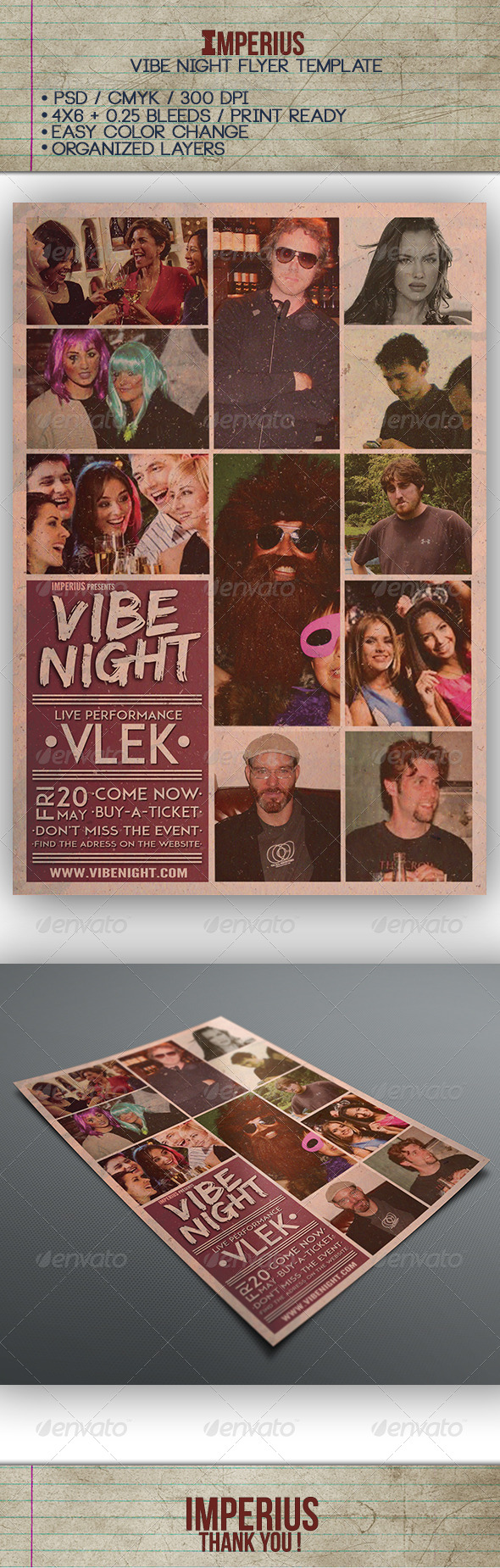GraphicRiver Vibe Night Flyer 7592391