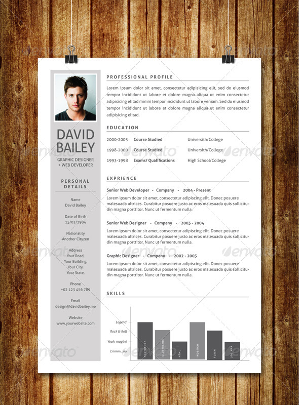 GraphicRiver Simple Clean Resume V3 7593400