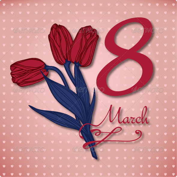 GraphicRiver Women s Day March 8 Card 7593399