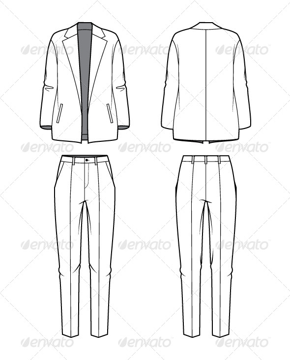 GraphicRiver Women s Blazer and Pants 7593597