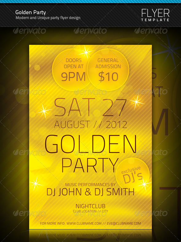 GraphicRiver Golden Party Flyer 696452