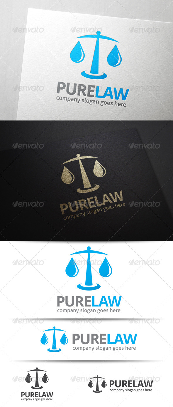 GraphicRiver Pure Law Logo 7593738