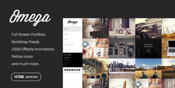 ThemeForest Omega Full Width HTML Portfolio 7595106