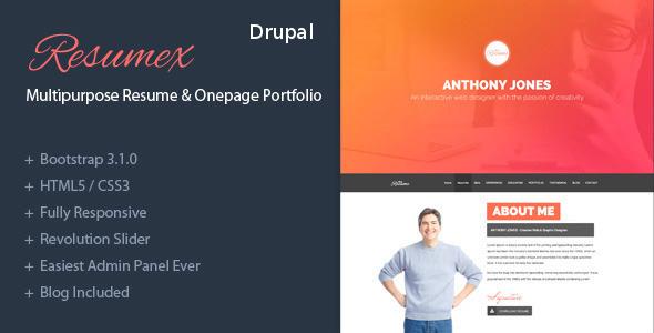 ThemeForest ResumeX Drupal multipurpose & One Page Portfolio 7447722