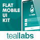 Teallabs - Modern & Cool Teal Flat Mobile UI Kit - GraphicRiver Item for Sale