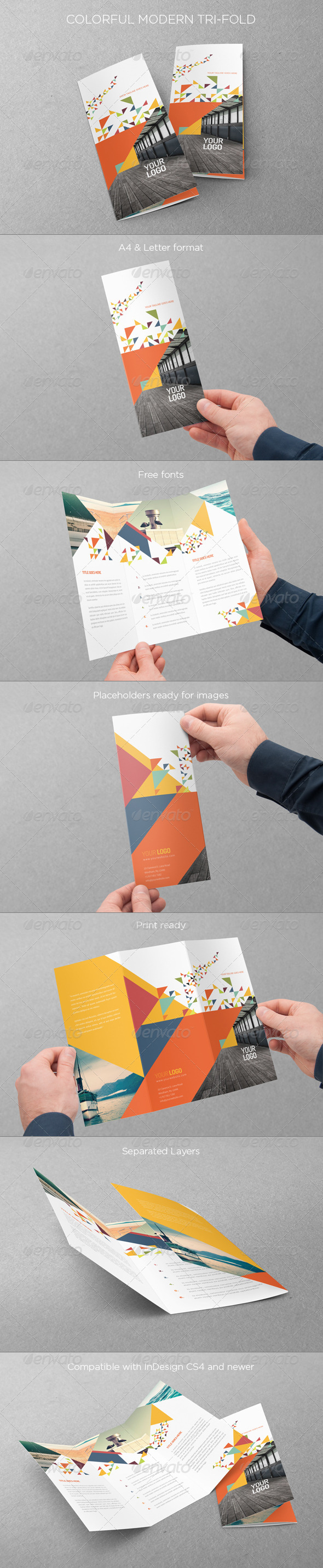 GraphicRiver Colorful Modern Trifold 7596238