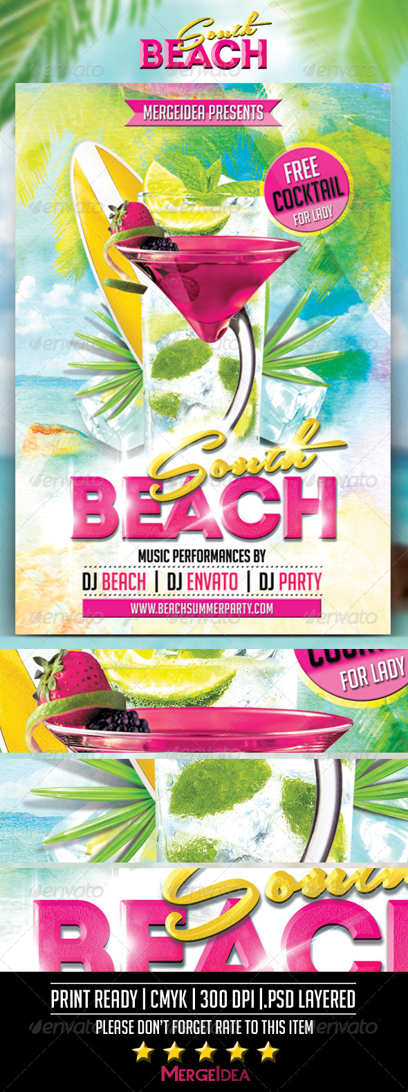 GraphicRiver South Beach Party Flyer 7584438