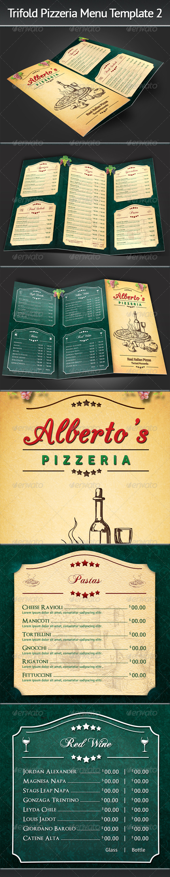 GraphicRiver Trifold Pizzeria Menu Template 2 7596742
