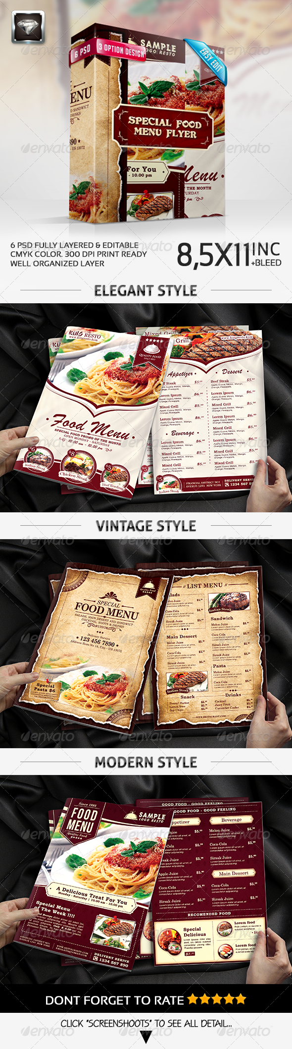 GraphicRiver Special Food Menu Flyer 7597926