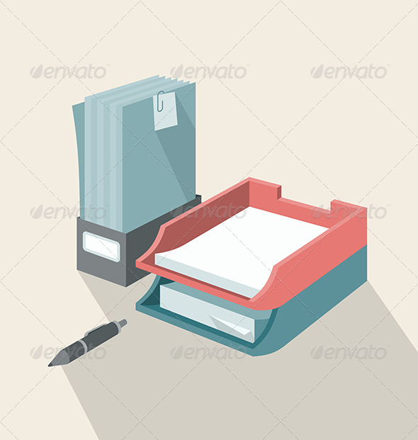 GraphicRiver Trays for Papers 7598222