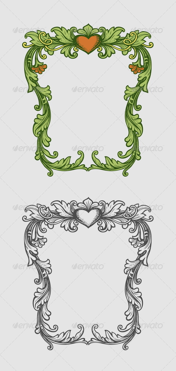 GraphicRiver Frame Floral Ornament Decoration 7598461